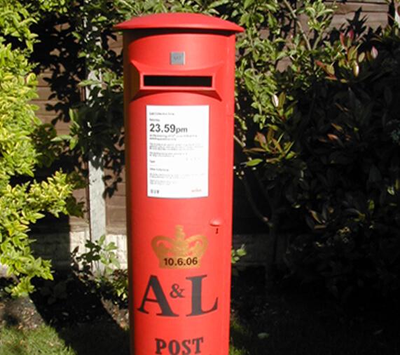 cardboard tube post box